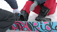 Dress of Seat and Snowboard Stock Footage