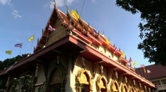 Unknown Temple under evening sun, Chiang Mai. HD 1080p. Stock Footage