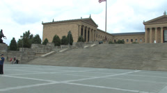 Philadelphia Museum of Art  Pan Stock Footage