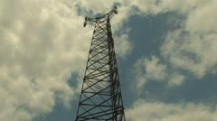 Cell phone Tower push in Stock Footage