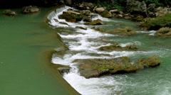 The small beautiful waterfall in Huangguoshu of Guizhou, China Stock Footage