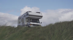 Camper in the Dunes 1 Stock Footage