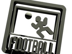 Sign, symbol of football - 3D model