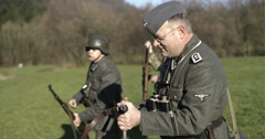 WW2 - German Soldier Group 2 - 03 Stock Footage