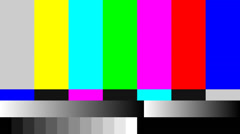 Stock Video Footage of 4K (4096x2304) static tv color bar test pattern