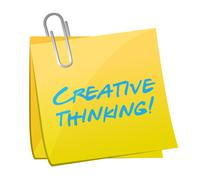 Stock Illustration of creative thinking post illustration design