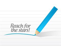 Reach for the stars message illustration design Stock Illustration