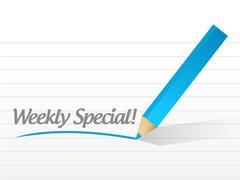 Stock Illustration of weekly special message illustration design