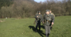 WW2 - German Soldier Group 2 - 05 Stock Footage