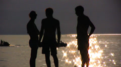 Human Silhouettes Stock Footage