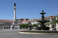 Stock Photo of rossio square in lisbon portugal