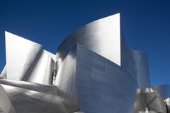 Walt Disney Concert Hall keskustassa Los Angeles, Kalifornia Kuvituskuvat