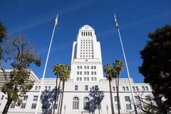 Stock Photo of Los Angeles, California City Hall in Downtown LA.