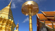 Stock Video Footage of Different views inside Wat Doi Suthep, Chiang Mai. HD 1080p.