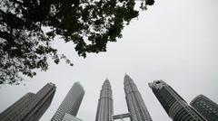 Kuala Lumpar - Petronas Towers2 Stock Footage