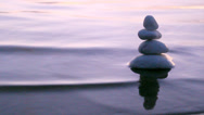 Stock Video Footage of ZEN Stones and Sea Waves D