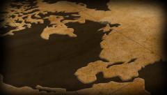 vintage map of the world - motion background - stock footage