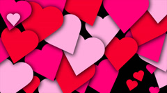 Hearts Transition - Valentine's day animation Stock Footage