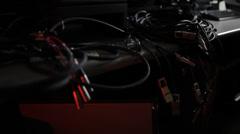 Hazard Audio/Video Wires 5 - stock footage