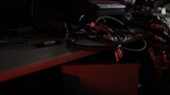 Hazard Audio/Video Wires 3 Stock Footage
