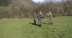 WW2 - German Soldier Group 2 - 09 - stock footage