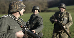 WW2 - German Soldier Group 2 - 10 Stock Footage