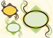 Stock Illustration of Oval frame with flourishes