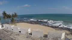 Shores of Elmina Castle, Ghana Stock Footage