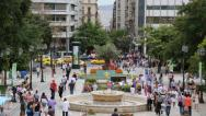 Stock Video Footage of People on Syntagma Square in Athens, Greece