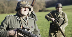 WW2 - German Soldier Group 2 - 11 - stock footage