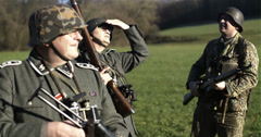 WW2 - German Soldier Group 2 - 12 - stock footage