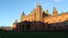 Exterior of Kelvingrove Museum Glasgow Scotland Stock Footage