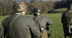 WW2 - German Soldier Group 2 - 13 - stock footage
