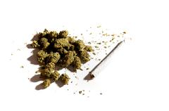 Stock Photo of pot buds and a joint
