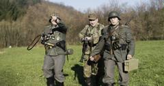 WW2-GermanSoldierGroup2-16 Stock Footage