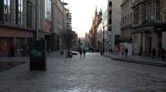 People shopping on Buchanan Street Glasgow Scotland Stock Footage