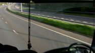 Stock Video Footage of Bus windscreen view