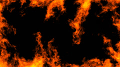 Fire Looping VFX element with Alpha channel matte. Stock Footage