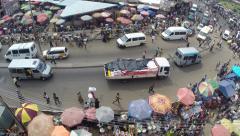Kumasi, Ghana busy market Stock Footage