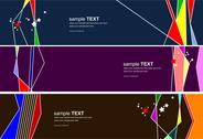 Stock Illustration of three colorful web design templates. vector illustration