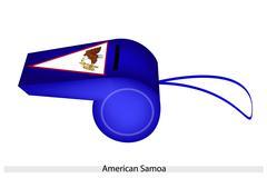Sininen pilli Amerikan Samoan lippu Piirros