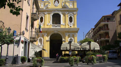 Cafe in Sorrento Italy Stock Footage