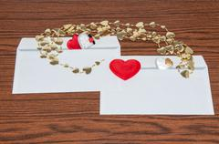 heart in envelope. happy valentines day - stock photo