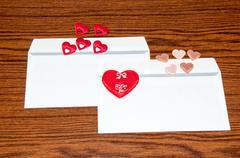 Heart in envelope. happy valentines day Stock Photos