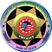 sheriff's badge on a white background. vector illustration - stock illustration