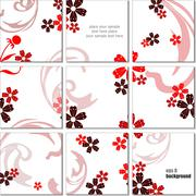 Stock Illustration of ceramic  tiles background. colored vector illustration for designers