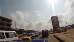 Busy traffic in Kumasi, Ghana Stock Footage