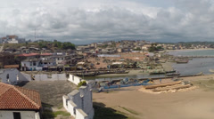 View from Elmina Castle, Ghana Stock Footage