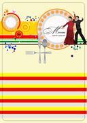 Restaurant spanish menu. vector illustration Stock Illustration