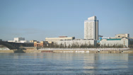 Stock Video Footage of Krasnoyarsk Yenisei Embankment 03